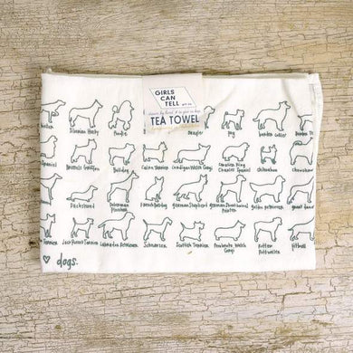 DOGS TEA TOWEL DISH TOWEL