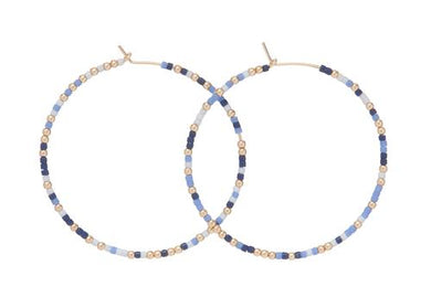 HOPE UNWRITTEN HOOP EARRINGS - VARSITY BLUES
