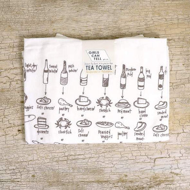 FOOD & WINE PAIRINGS DISH TOWEL