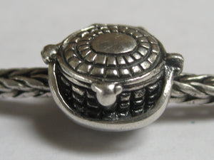 Nantucket Basket Charm, Sterling Silver