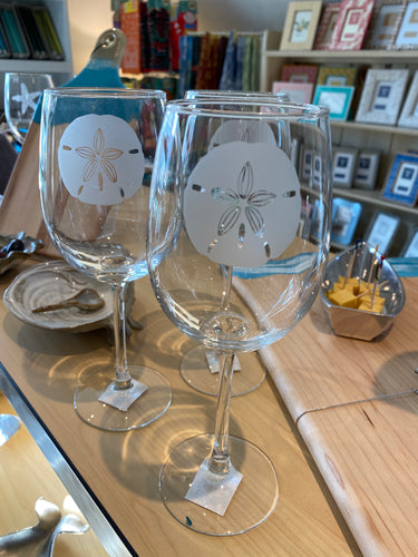Sand Dollar Wine Glass