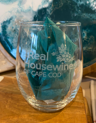 The Real Housewines of Cape Cod Stemless Wine Glass