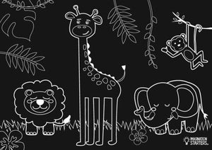Animals Chalkboard Placemats