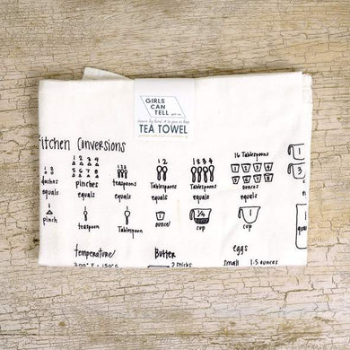 KITCHEN MEASUREMENTS DISH TOWEL