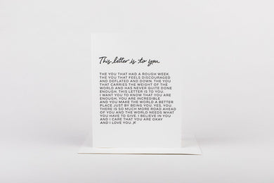 LETTER TO YOU CARD