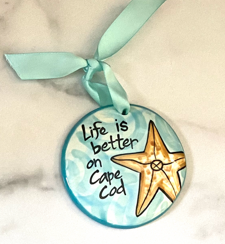 Life is Better on Cape Cod Handpainted Ornament