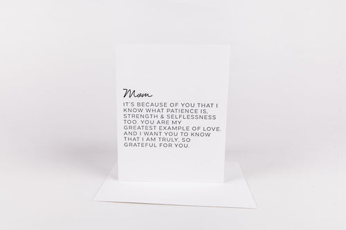 LETTER TO MOM CARD