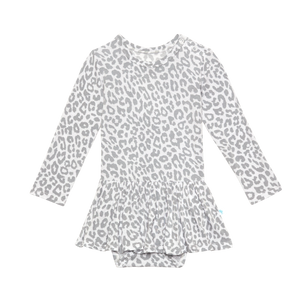 Minka Long Sleeve With Twirl Skirt Bodysuit