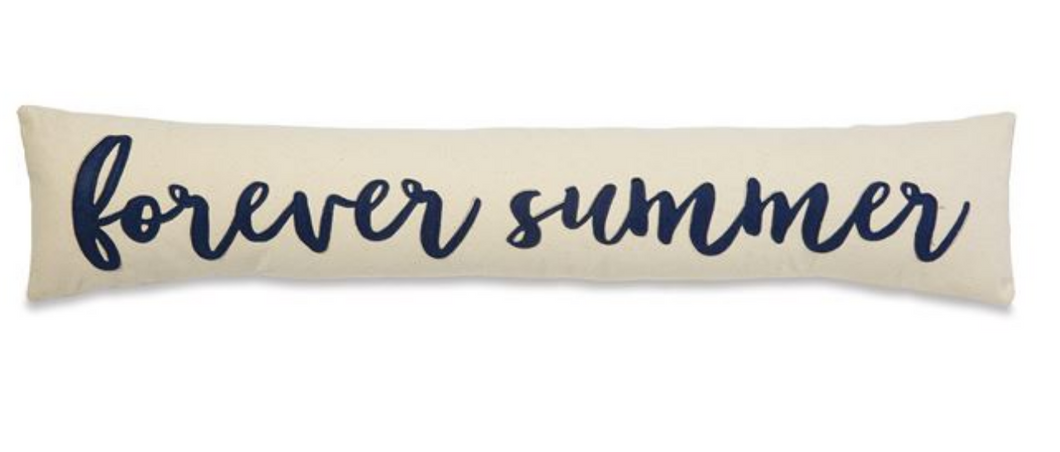 Forever Summer Long Skinny Canvas Pillow