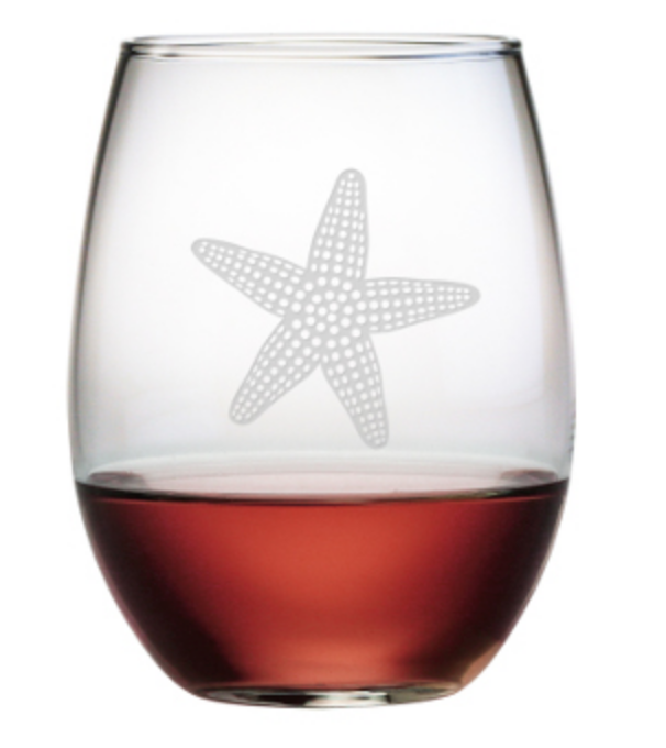 Starfish Stemless Wine Glass