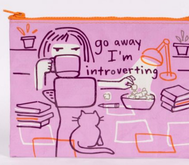 Go Away I'm Introverting Zipper Pouch