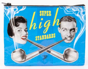 Super High Standards Zipper Pouch