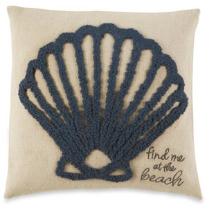 Shell Raised Hooked Pillow