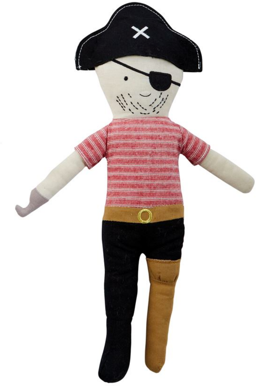 Peg Leg Pirate Plush Doll