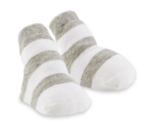 Gray Wide Stripe Socks