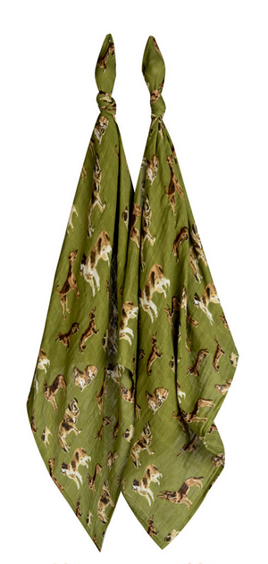 Green Dog Burp Cloths