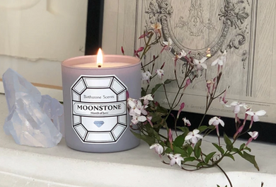 MOONSTONE/JUNE BIRTHSTONE CANDLE
