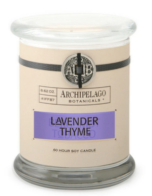 Lavender Thyme Glass Jar Candle