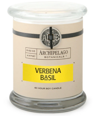 Verbena Basil Glass Jar Candle