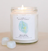 Load image into Gallery viewer, SEA OPAL CRYSTAL CANDLE