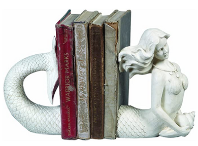 Mermaid Shaped Resin Bookends (Set of 2 Pieces)