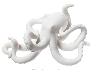 Decorative White Bisque Octopus