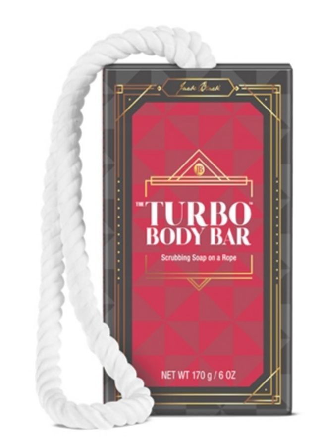 Turbo Body Bar Scrubbing Soap On A Rope