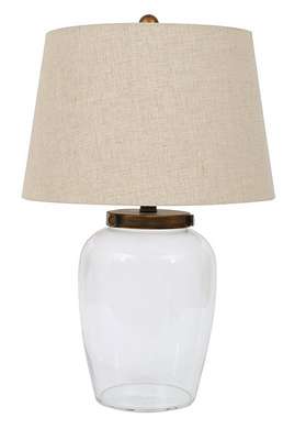 Glass Fillable Table Lamp with Shade