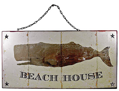 Metal Beach House Wall Plaque