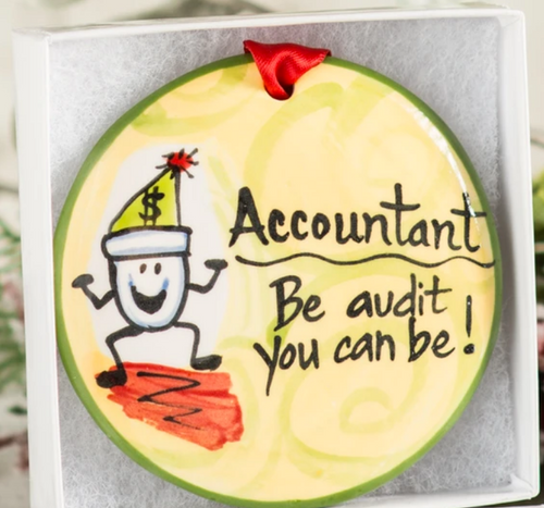 Accountant Handpainted Ornament