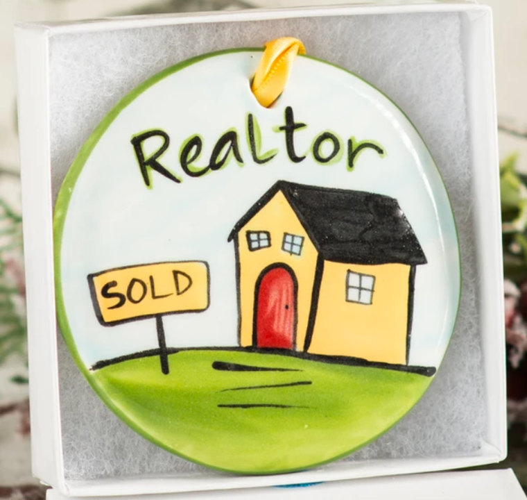 Realtor Handpainted Ornament