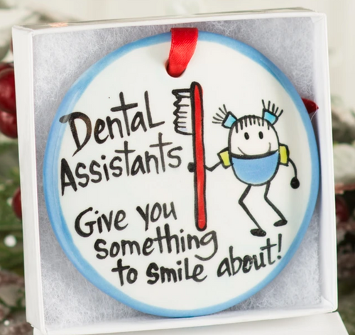 Dental Assistants Handpainted Ornament