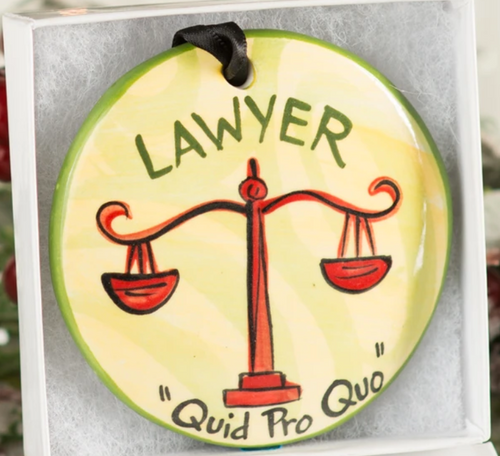 Lawyer Handpainted Ornament