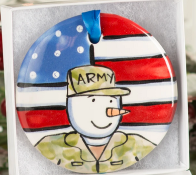 Army Handpainted Ornament