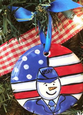 Air Force Handpainted Ornament