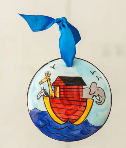 Noah's Ark Handpainted Ornament