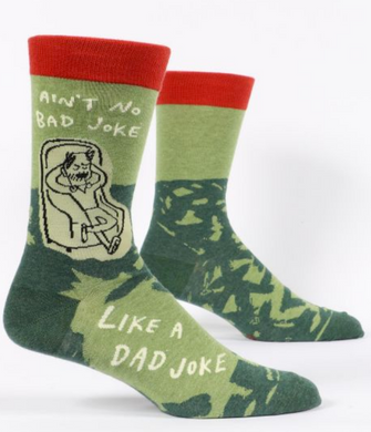 Ain't No Bad Joke Like A Dad Joke Men's Crew Socks