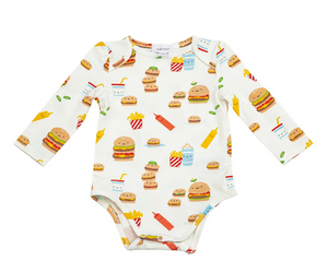 Burger Joint Onesie with Lap Shoulder Opening