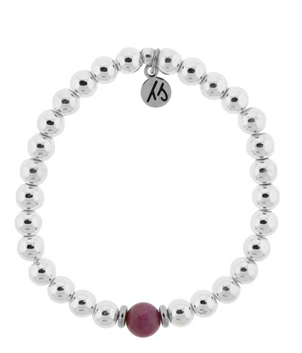 Cape Bracelet with Ruby Ball