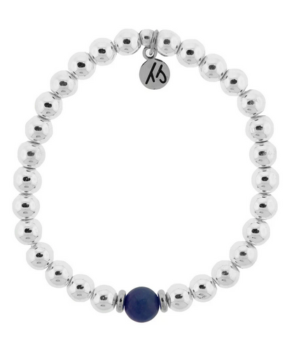 Cape Bracelet with Sapphire Ball