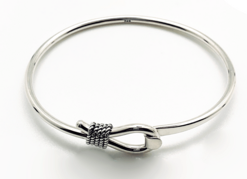 Wrapped Loop Sterling Bangle