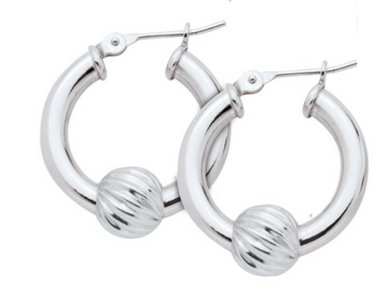 Cape Cod Lestage® Earrings SS With Swirl Bead