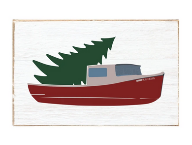 Tree Lobster Boat XL Rustic Block