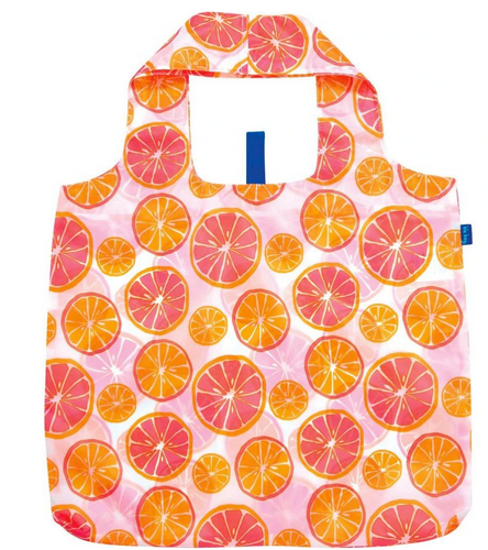 Citrus Red Blu Bag Reusable Shopping Bags - Machine Washable
