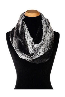 Infinity Scarf - Luxury Faux Fur in Smouldering Sequoia