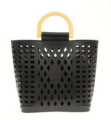 Black Madison Cut Out Tote