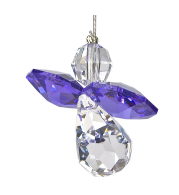 Crystal Guardian Angel Suncatcher - Amethyst (February)