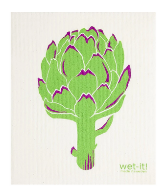 Artichoke Wet-It! Reusable Cloth