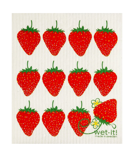 Strawberry Wet-It! Reusable Cloth