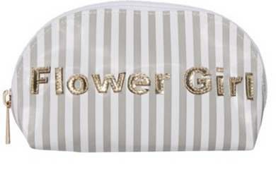 Flower Girl Wide Gray Stripes Small Molly Case